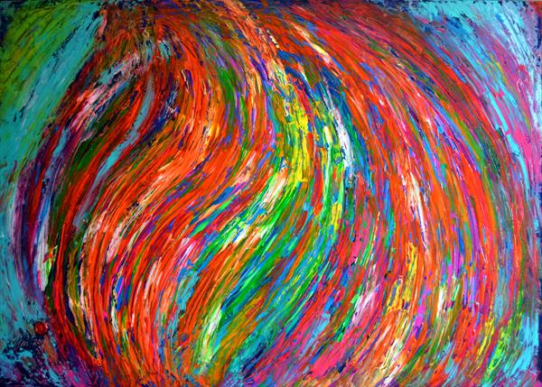 Gypsy Twirl - XXXL Large Modern Abstract, Huge Painting - Ready to Hang by Soos Tiberiu - Anton