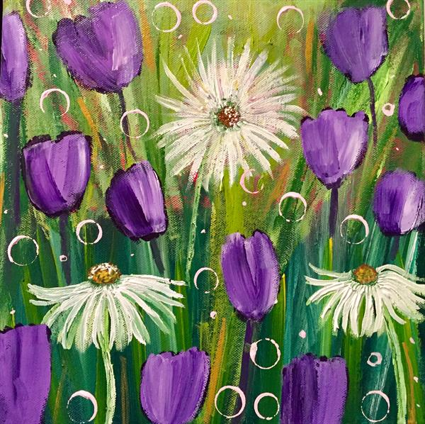 Three Large Daisies  by Caroline Duncan