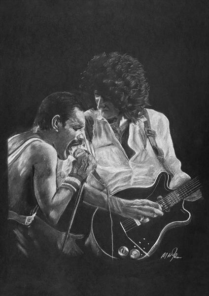 Queen - Freddy Mercury - Brian May by Mike Isaac