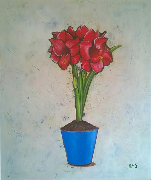 Red Amaryllis by Rosie Searle