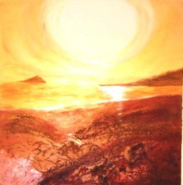 Sunset Over the Mewstone by Kitty Heardman