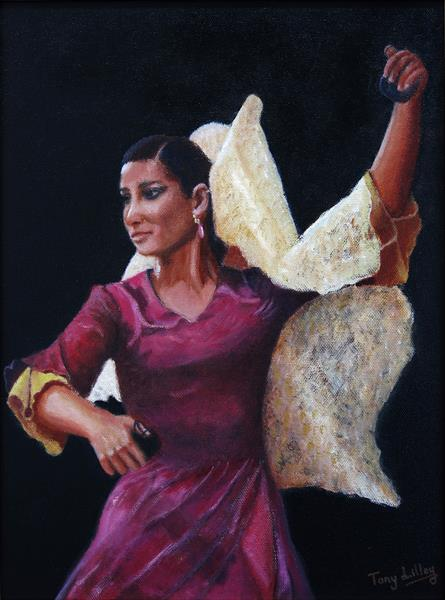 Spanish Dancer - Oil Painting by Tony Lilley