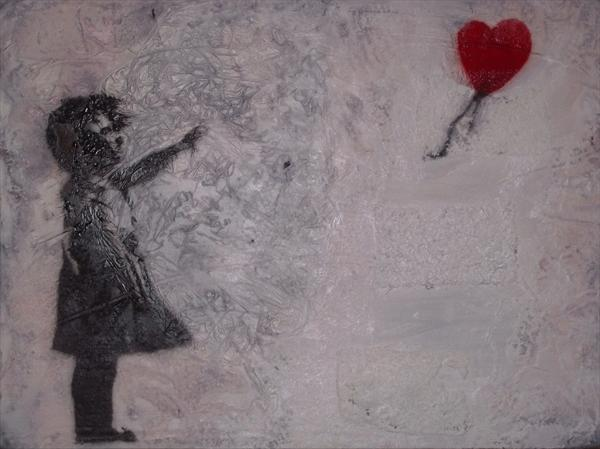 Girl With Balloon - Tribute to Banksy  by John Clohessy