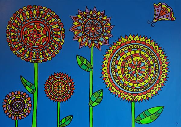 Doodle flowers by Lee Proctor