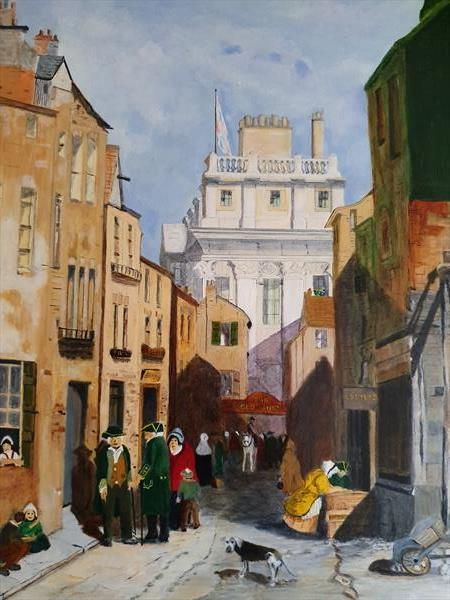 Sunshine in Fishers Alley by Stephen Fox