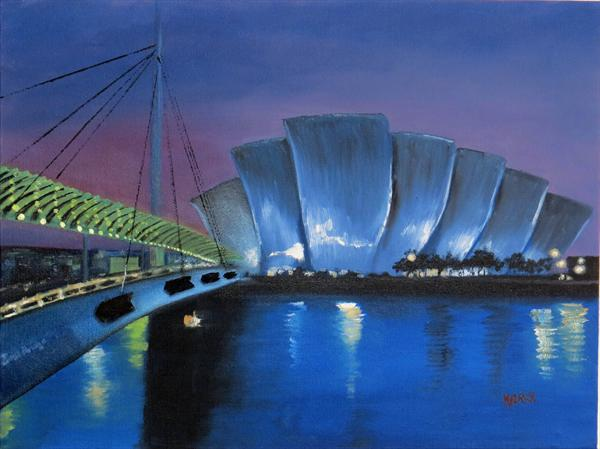 Glasgow Armadillo & Bells Bridge by David Melrose