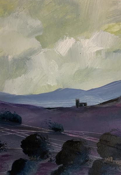The church on the hill - midsummer by Sarah Gill