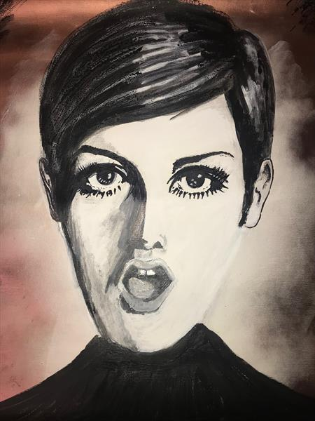 TWIGGY 1 ON CANVAS by RICHIE WERMERLING