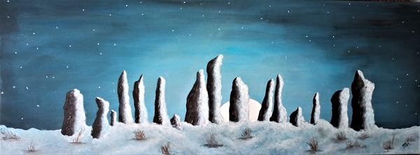 Moonrise at Midwinter by Joanne Tharby-Hammond