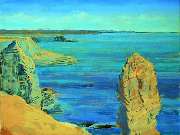 """""""The Stack Rocks"""" Seascape painting by Paul Manwaring"""