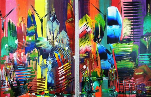 London City 2 piece Abstract 923 by Eraclis Aristidou