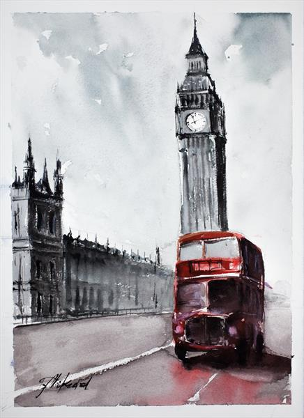 London Bus by Tomasz Mikutel