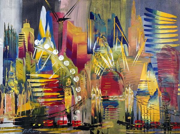 London Cityscape Abstract 643 by Eraclis Aristidou