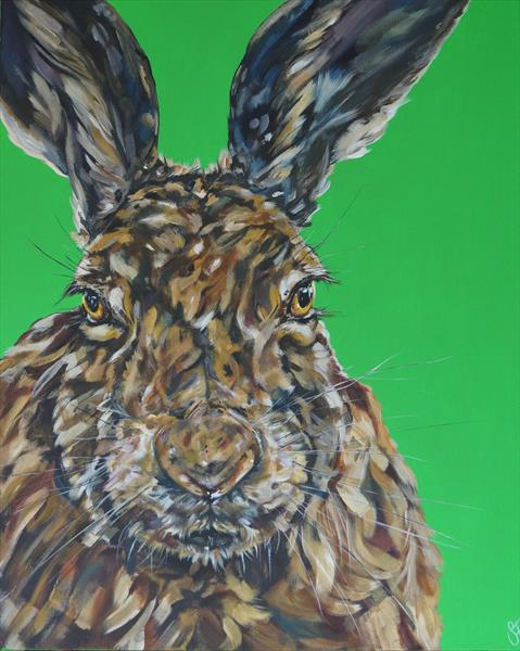 Bad Hare Day (On display at The Art Gallery, Tetbury) by Sam Fenner