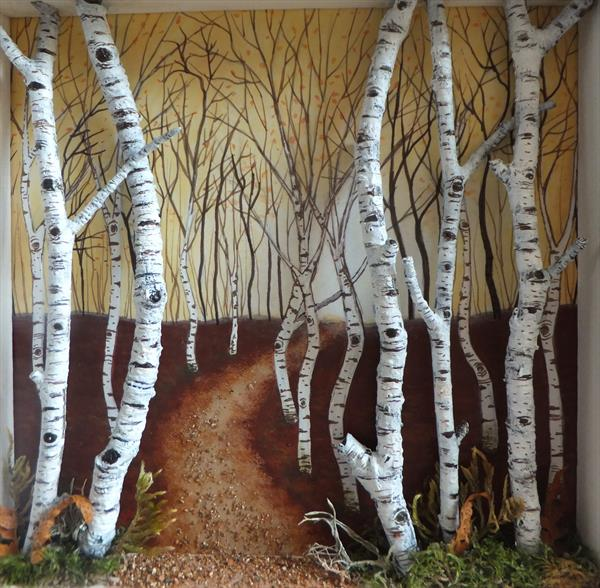 birch tree collage by Sharon O'Brien