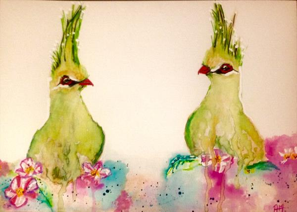 Love (Touraco bird study) by Anushree Mish