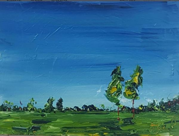 Summer Trees standing in a field by niki purcell