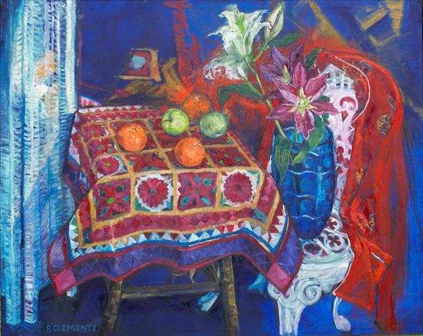 Kimono and Garden Chair still life by Patricia Clements