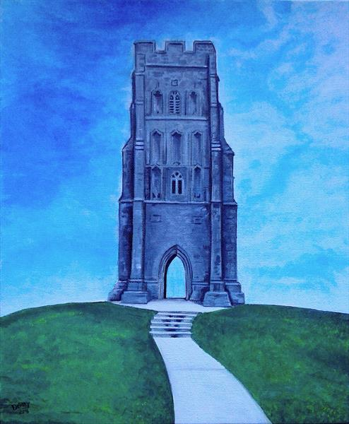 St Michael's Tower at Glastonbury Tor by Spencer   Derry