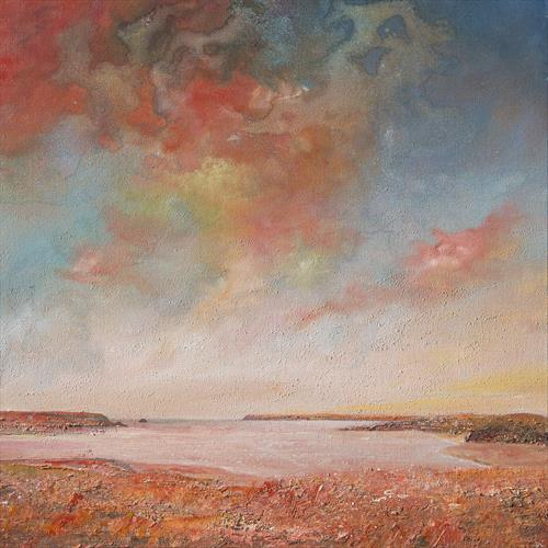 Camel Estuary Red Sky by Diane Griffiths