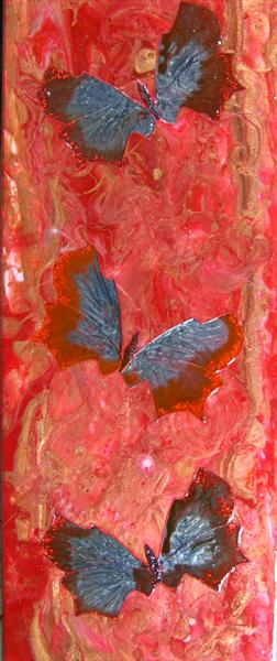 Red Butterflies 2 by Fiona Robinson