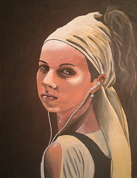 Girl With An iPod Touch by Paul Francis