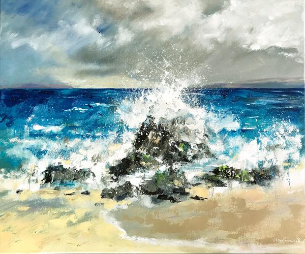 Seascape - crashing waves by Luci Power