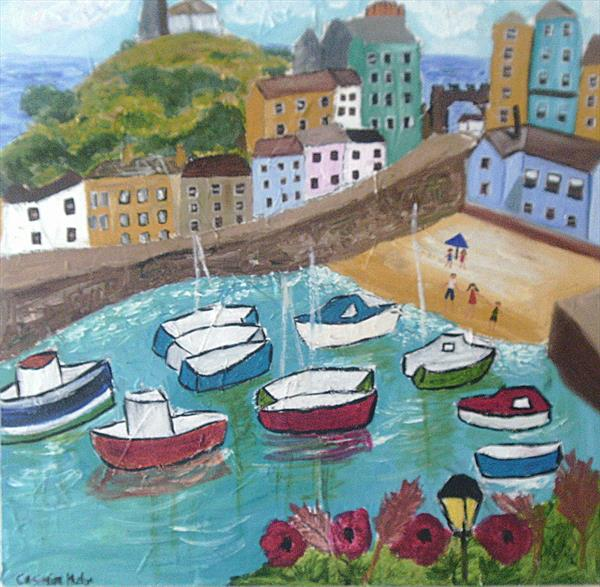 Naive Painting of Tenby, Pembrokeshire