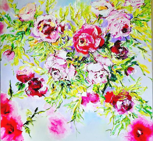 My Garden Roses by Olena Topliss