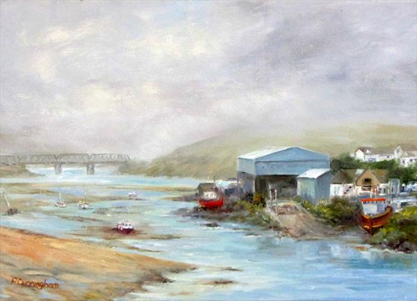 Padstow Harbour view from the River by Patricia Cunningham