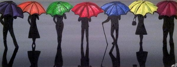 Line of Umbrellas 5