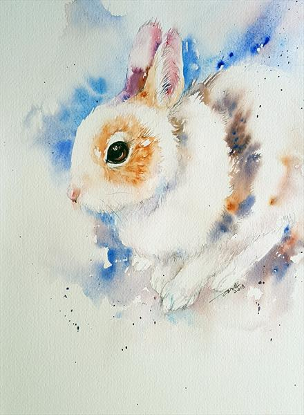 Fluffy Florence _Rabbit by Arti Chauhan