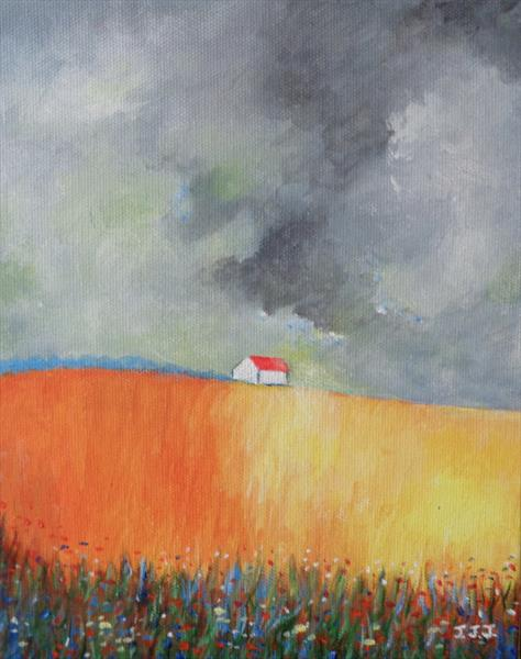 Storm Brewing over the Cornfield