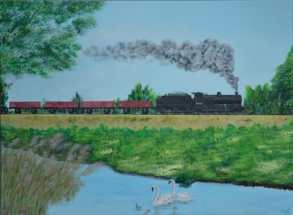 Within beautiful nature - Nene Valley Railway by Van  Titlow