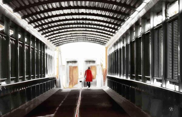 Urban Tunnel.  Waiting for the Lift. by Georgina Bowater