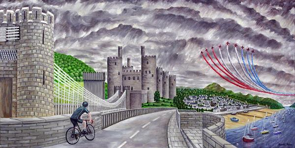 Red Arrows Over Conway Castle by Ronald Haber
