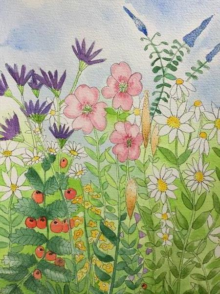 Amongst the hedgerow by Cheryl Fears