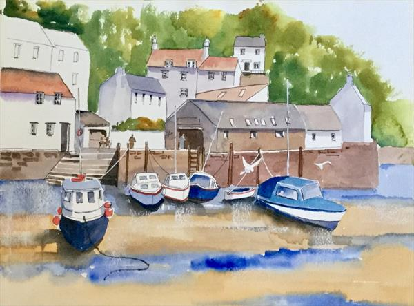 POLPERRO, the inner harbour by Susan Shaw