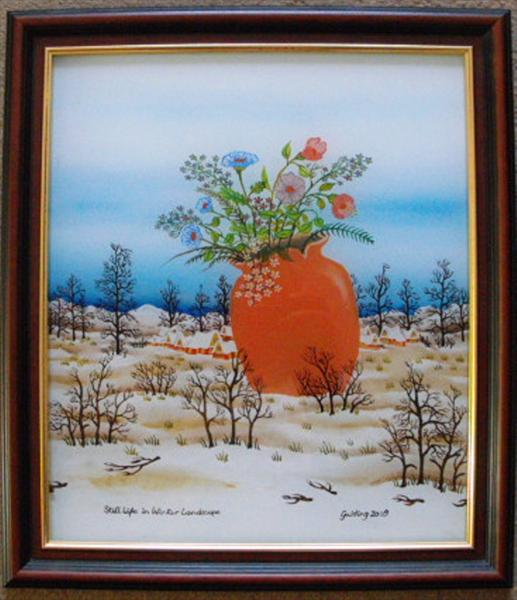 Still Life in a Winter Landscape by David Golding
