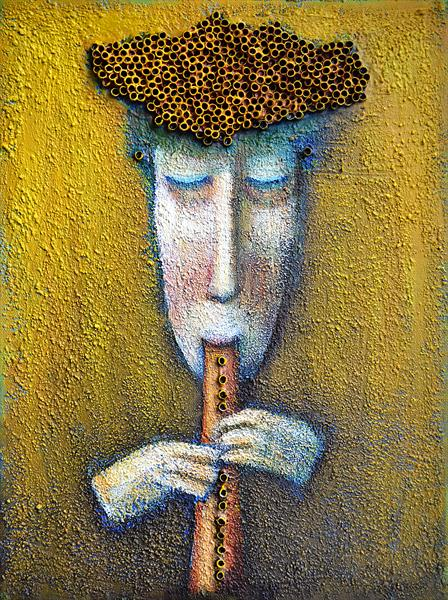 Pipe player by Zhana Viel