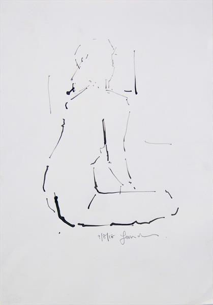 Nude Study of the Female Figure- Life Drawing No 337 by Ian Mckay