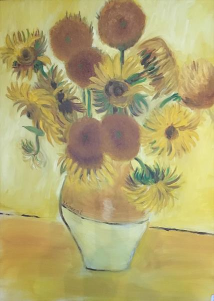 COPY OF VAN GOGHS SUNFLOWERS by Keith Bell