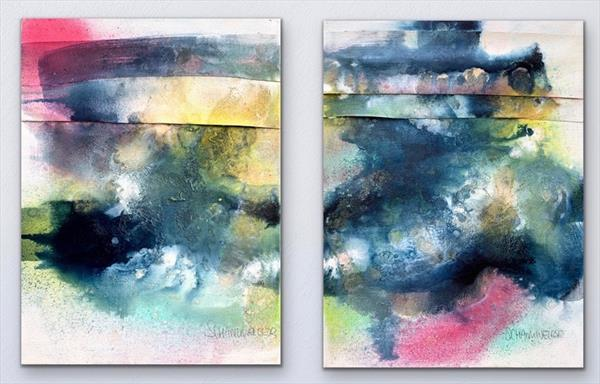 Lookin' For a Good Time  (Diptych) by Kirsten Schankweiler