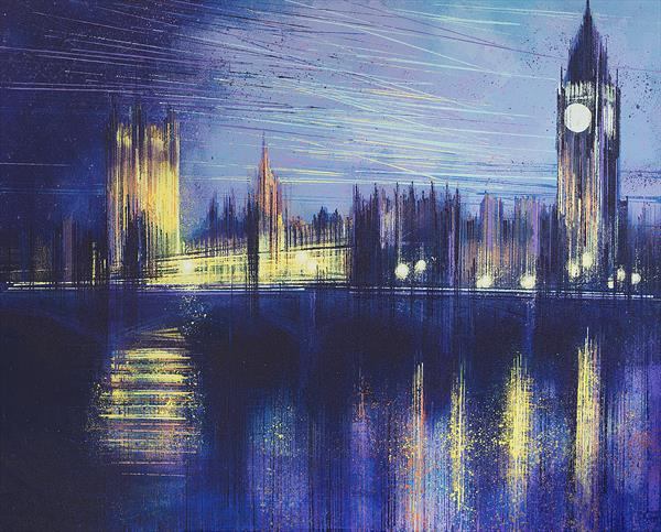 Westminster, London, At Sunset by Marc Todd