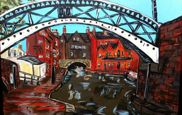 Gas Street Basin bridge Birmingham  by Paul O'Leary
