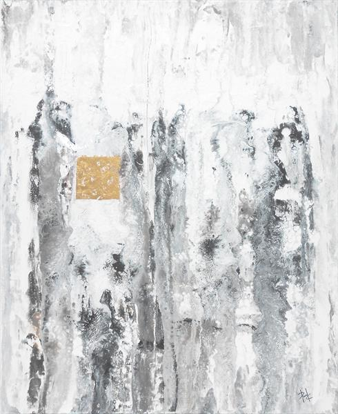 Abstract In Greys With Gold by Paul Chambers