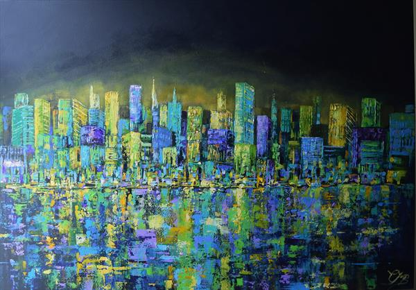 City on the Edge No 2 by Colette Baumback