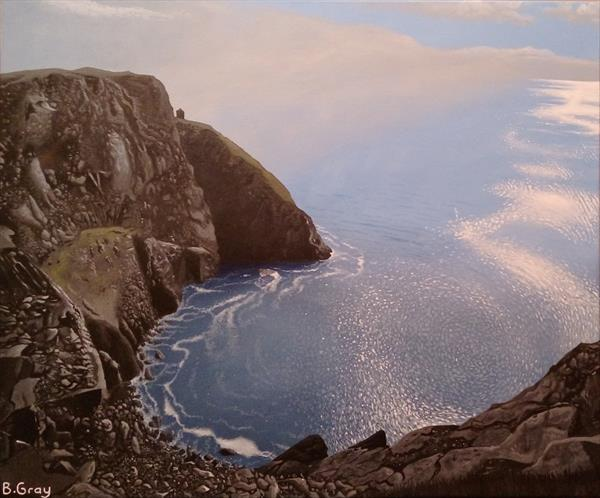 Cliffs of Slieve League 20'' X 24'' by Barry John Gray
