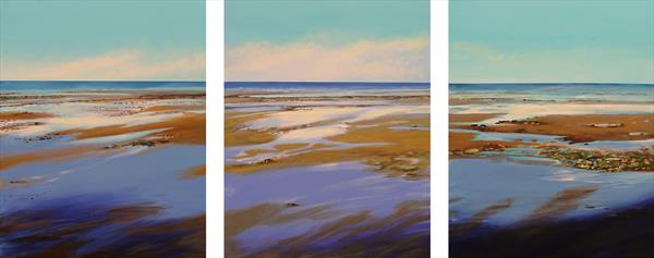 To The Sea Triptych by Sandra Francis