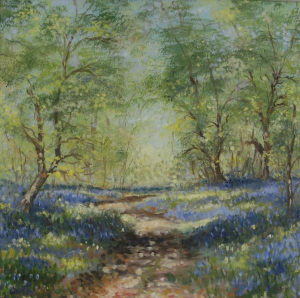 Bluebell walk. by Wendy Sabine